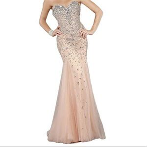 Jovani Couture Prom Dress with Crystals